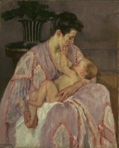 Mary Cassatt young mother nursing her child oil on canvas 1906