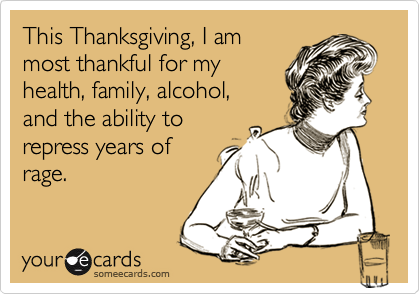 thanksgiving alcohol
